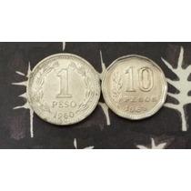 Lote 1 Peso Argentina 1960 1968 (a12)
