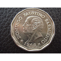 Argentina - Moneda De 25 Pesos, Año 1968 D F Sarmiento, Mb