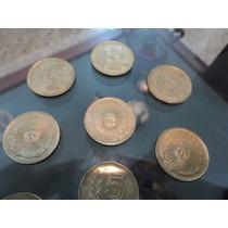 Lote De11 Monedas De 5 Pesos Año 1976 - 1977