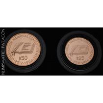 2 Moneda Oro 900 - Convención Constituyente 1994 $ 25 Y $ 50