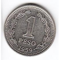 Argentina, Moneda De 1 Peso 1959, Cj#254 - Sin Circular