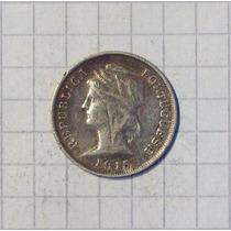 Portugal 10 Centavos 1915 Muy Linda