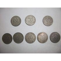 10 Monedas Antiguas Argentinas De 0.20 Ctv. De 1906 Y 1942