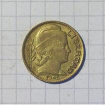 Argentina 20 Centavos 1942 Lindo Error Bajo La Fecha