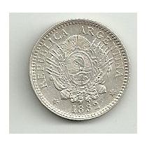 Aregntina Patacon 10 Centavos 1882 Cj 22.1.1