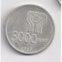 3000 Pesos Moneda De Plata Mundial 1978 Cuño 1977