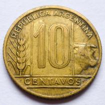 Moneda Argentina 10 Centavos 1949 Error De Acuñación
