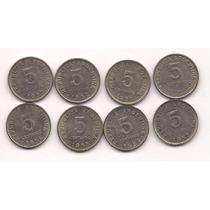 Serie Completa 8 Monedas Argentinas 5 Centavos 1950 A 1956