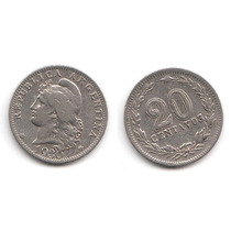 Argentina, Moneda De 20 Centavos De Cuproniquel, 1930