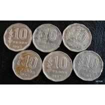 10 Pesos 1963 Se Vende Lote De 6 Monedas