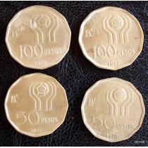 4 Monedas 1978 Mundial De Futbol 50 Y 100 Pesos
