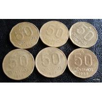 50 Centavos Austral 1986 87 88 Se Vende Lote De 6 Monedas