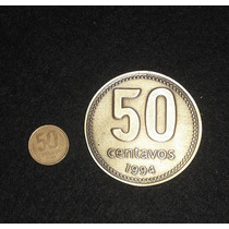 Moneda Jumbo (gigante) 50 Ctvos. Solo Para Coleccionistas!
