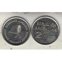 Argentina Moneda De 2 Pesos Derechos Humanos Año 2006