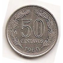 Argentina Moneda Año1960 De 50 Centavos Cj 261