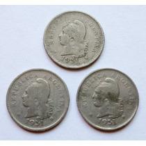 Lote De 3 Monedas Argentina 10 Centavos 1931 Año Colecc.