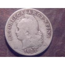 Argentina Moneda Antigua 20 Centavos 1921 Perfecta +++!