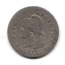 Moneda Argentina 10 Centavos 1915 Niquel