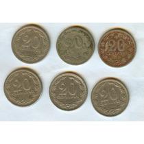 Argentina Lote Monedas 20 Ctvos. Antiguas