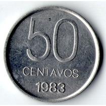 Moneda Argentina - 50 Centavos - Año 1983