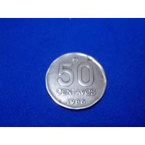 Lote De 9 Monedas De 50 Centavos De Austral 1986-87-88 .-