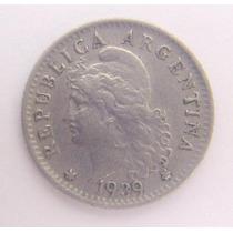 Antigua Moneda Cupro Niquel Año 1939 - 5 Ctvos.