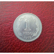 Monedas De Un Peso Argentinas Desde 1957 A 1960