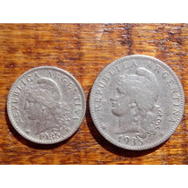 Monedas Antiguas Argentinas Año 1935 Niquel 20, 5 Ctvos