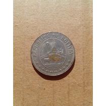 Moneda Boliviana Antigua 50 Ctvos 1965