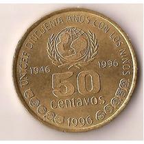 Moneda De Argentina 50 Ctvs Unicef. La Plata