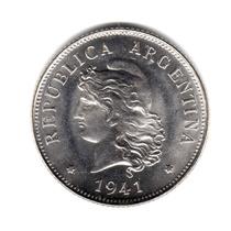 Moneda Argentina 50 Centavos 1941 Brillante Sin Circular