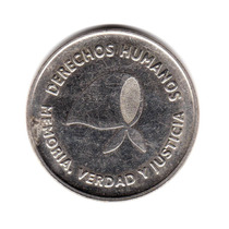 Moneda Argentina 2 Pesos 2006 Derechos Humanos Conmemorativa