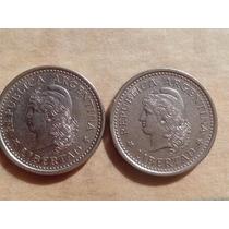 Argentina 2 Antiguas Monedas 1 Peso Año 1960 Excelentes ++!