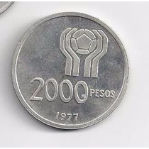 2000 Pesos Moneda De Plata Mundial 1978 Cuño 1977