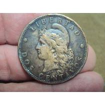 Moneda Argentina 2 Centavos 1884 Ref (a 77)