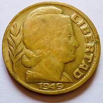 Moneda Argentina 20 Centavos 1949 Fecha Y Libertad Grandes