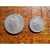 Monedas Antiguas Argentinas Año 1935 Niquel 20 Y 5 Ctvos
