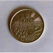 Moneda Conmemorativa 2 Pesos Evita - 2002 - Argentina
