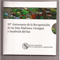 Nuevo Blister 30 Aniversario De Malvinas Moneda 2 Pesos !!!