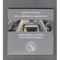 Blister Derechos Humanos Contiene La Moneda De 2 Pesos !!!!