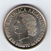 Moneda Conmemorativa De 2 Pesos Evita Año 2002