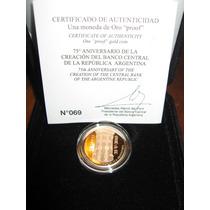 Moneda De Oro 75° Aniversario Del Bcra