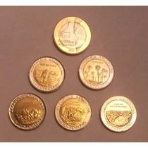 Lote 5 Monedas Bicentenario + $ 2 Malvinas S/c Palermo-