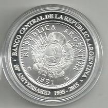 Argentina 80 Aniversario Banco Central Plata