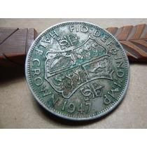 Moneda Half Crown 1947 Inglaterra Impecable