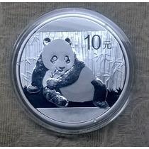 10 Yuan Moneda Onza De Plata Pura Panda 2015