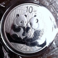 Moneda De Plata China 1 Onza Plata 2009 Unc Panda Proof