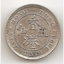 Hong Kong Britanico, 5 Cents, 1899. Plata. Xf+ / Aunc