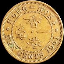 Chinacoins / Hong Kong 10 Cents 1961 Km#28 Elizabeth ||
