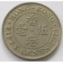 50 Cents 1971 De Hong Kong Excelente !
